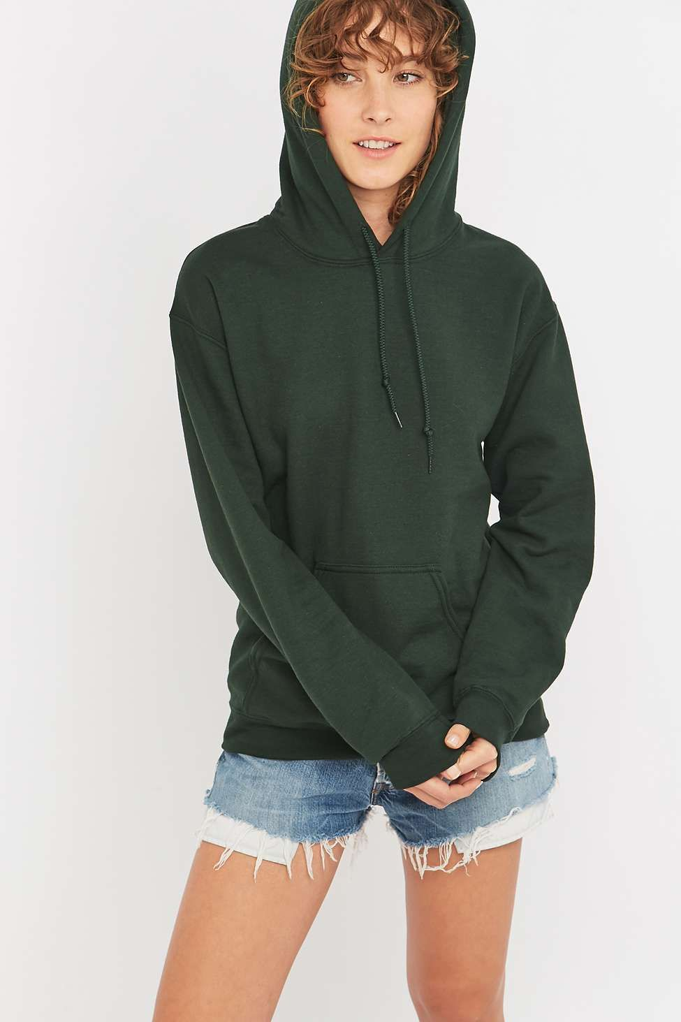 BDG Plain Pullover Hoodie Urban Outfitters
