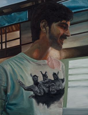 Felipe, 2013 ·oil on canvas ·100 × 76 cm ·www.gustavosaiani.com/images/view/54