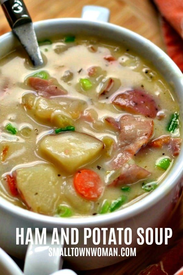 Creamy Potato & Ham Soup #potatosoup