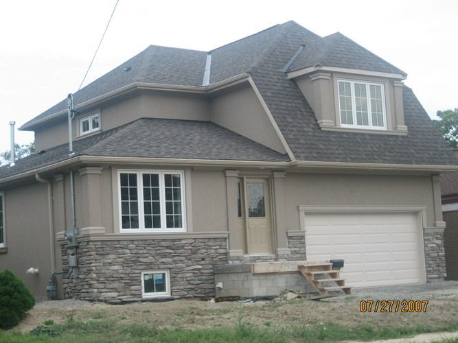 Image result for house with stone veneer on exterior - Exterior paint coverage on stucco ...