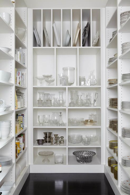 i want a pantry like this for all my dishes why store food when you can store such pretty things as dishes and i want a glass door on my pantry so - Walk In Pantry Design Ideas