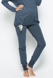 Zwangerschapskleding Pyjama.Amoralia Pyjama Lounge Broek Skinny Dark Denim Mooi Zwanger