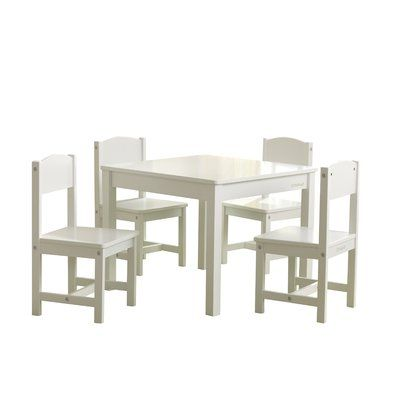 Kidkraft Farmhouse Kids 5 Piece Writing Table And Chair Set Color