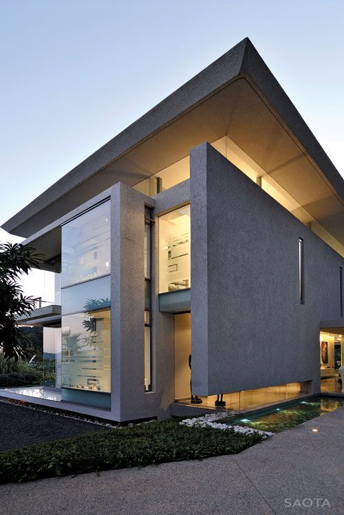 Architecture contemporary homes Pinterest Maison moderne - facade de maison contemporaine