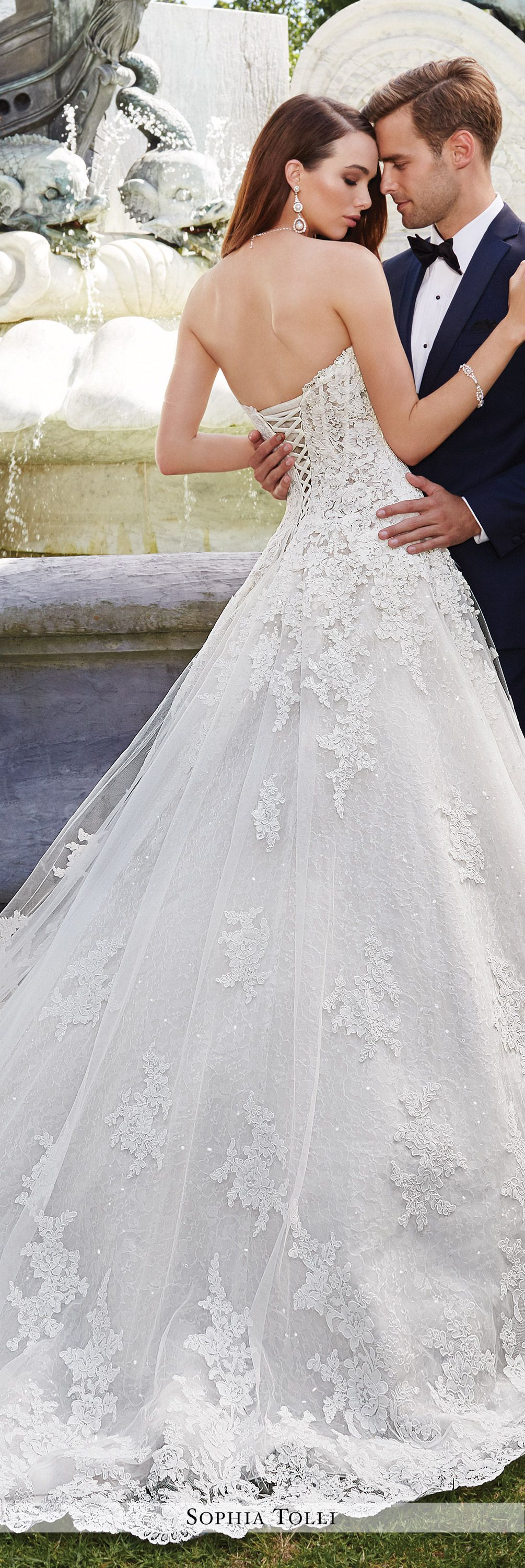 Tulle & Lace Dropped Waist Ballgown Wedding Gown Sophia