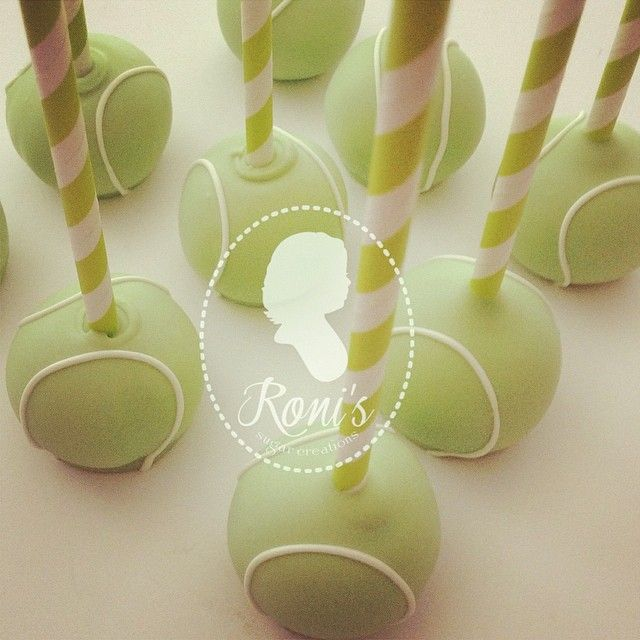 tennis ball cake pops for a  - why is there fuzz on a tennis ball