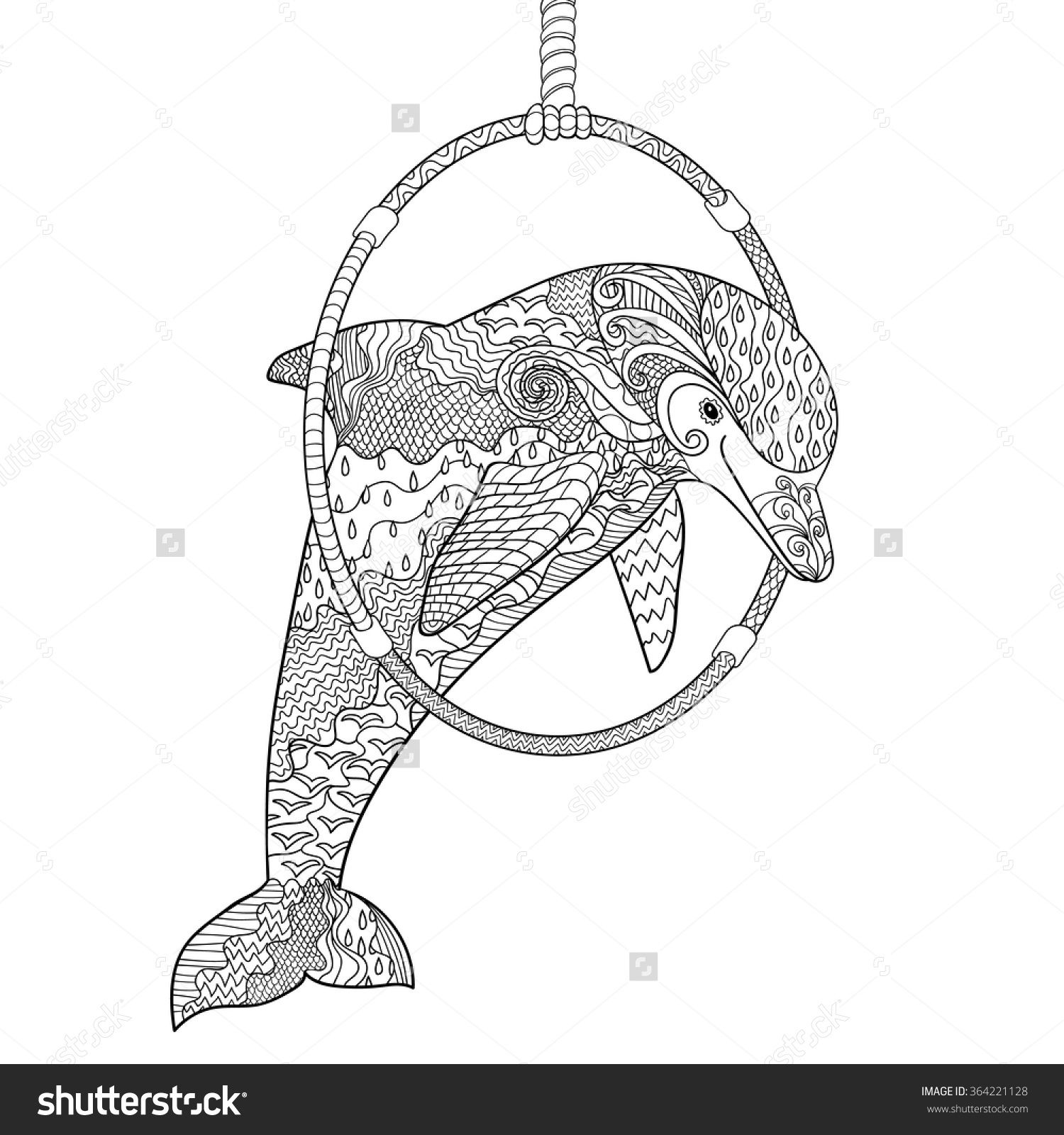 adult colouring pages dolphins - Google Search | Inkleur vir Mammas ...