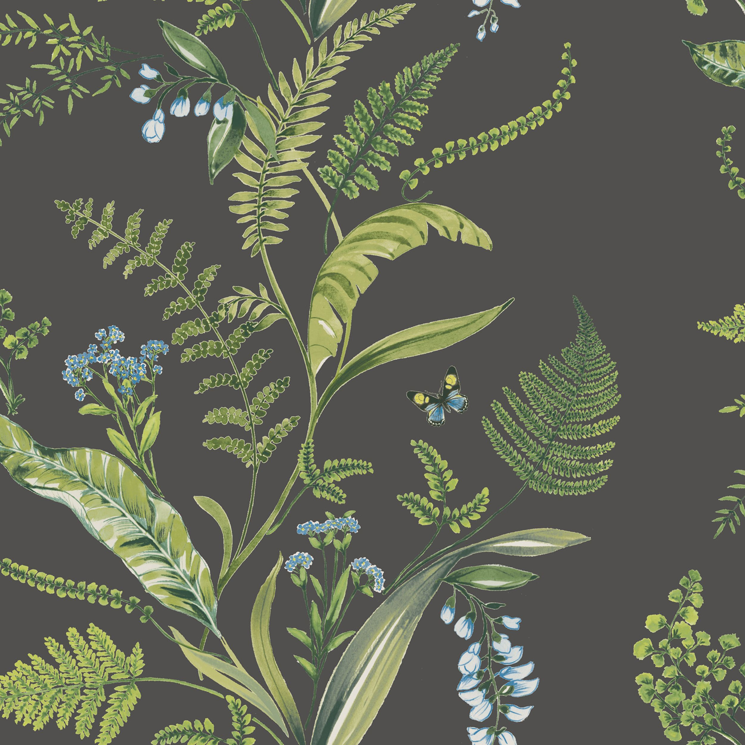 Computer Wallpaper Nz: K2 Fern & Flowers Green Floral Wallpaper