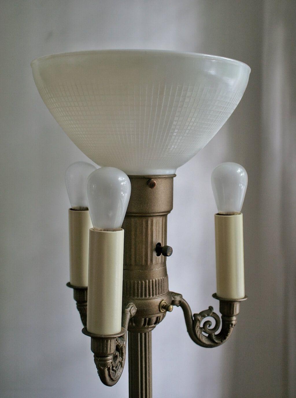 4 Bulb Antique Floor Lamp Antique Floor Lamps Floor Lamp Makeover Floor Lamp