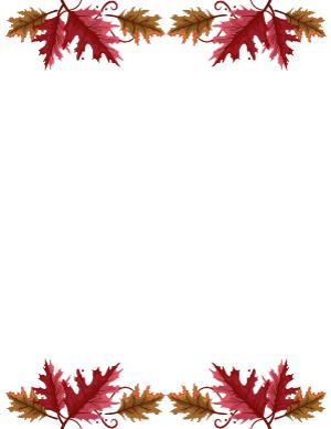 Free Printable Page Borders Page 43 In 2020 Page Borders Oak Leaf Printables