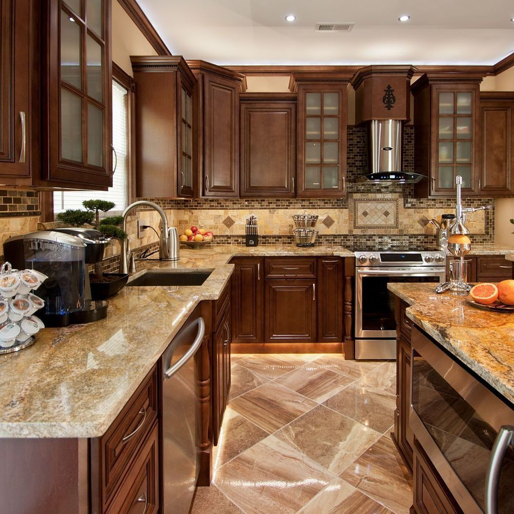 Geneva All Wood Kitchen Chocolate Stained Maple