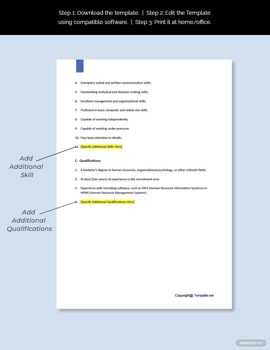 Free Agency Recruiter Job Description Templates Job Description
