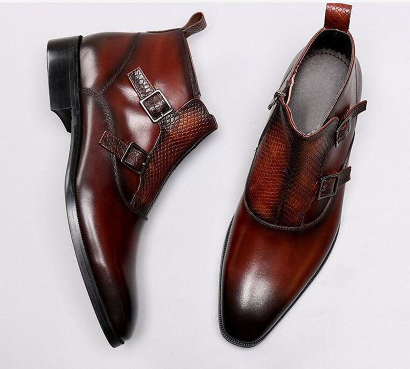 Dress leather boots, Mens boots fashion