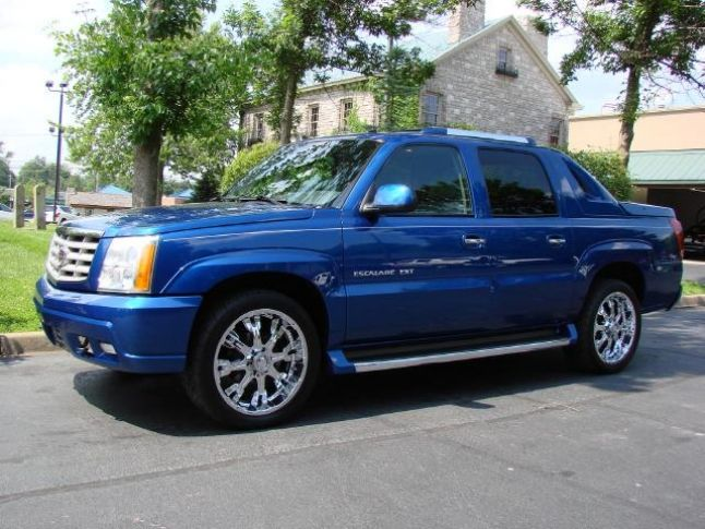 Escalade Truck Blue 2004 Cadillac Ext Sport Utility Colors