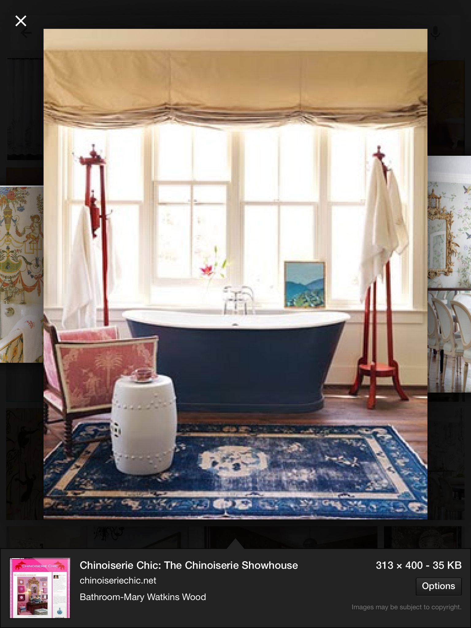 Chinoiserie bathroom - if only!