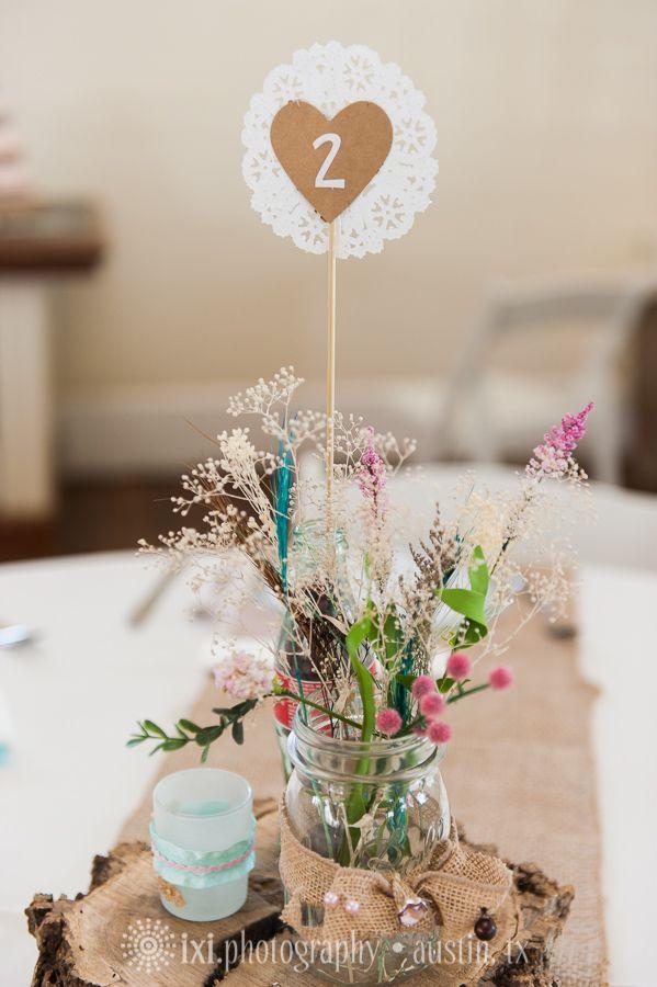 Diy centerpieces fake flower burlap