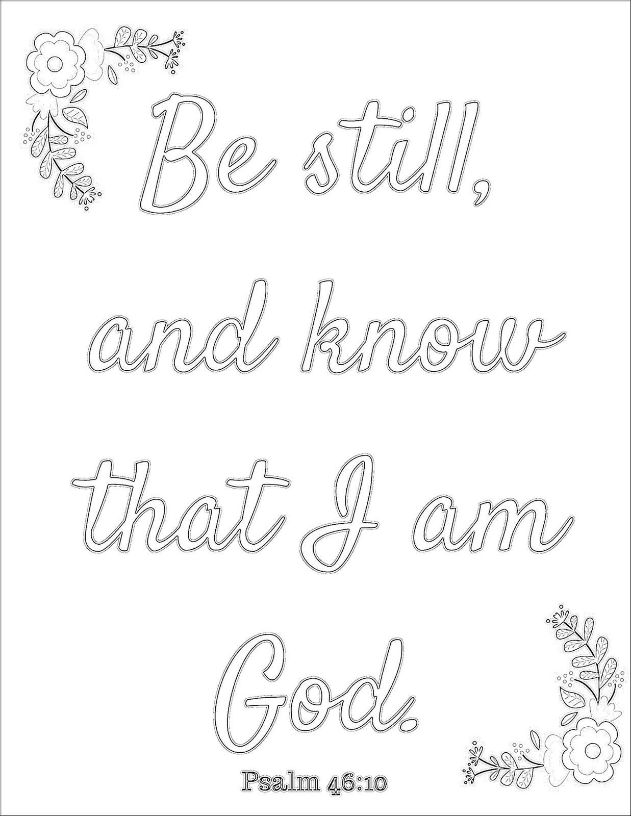 Elegant Be Still And Know Coloring Pages 5 Art Therapy Faith