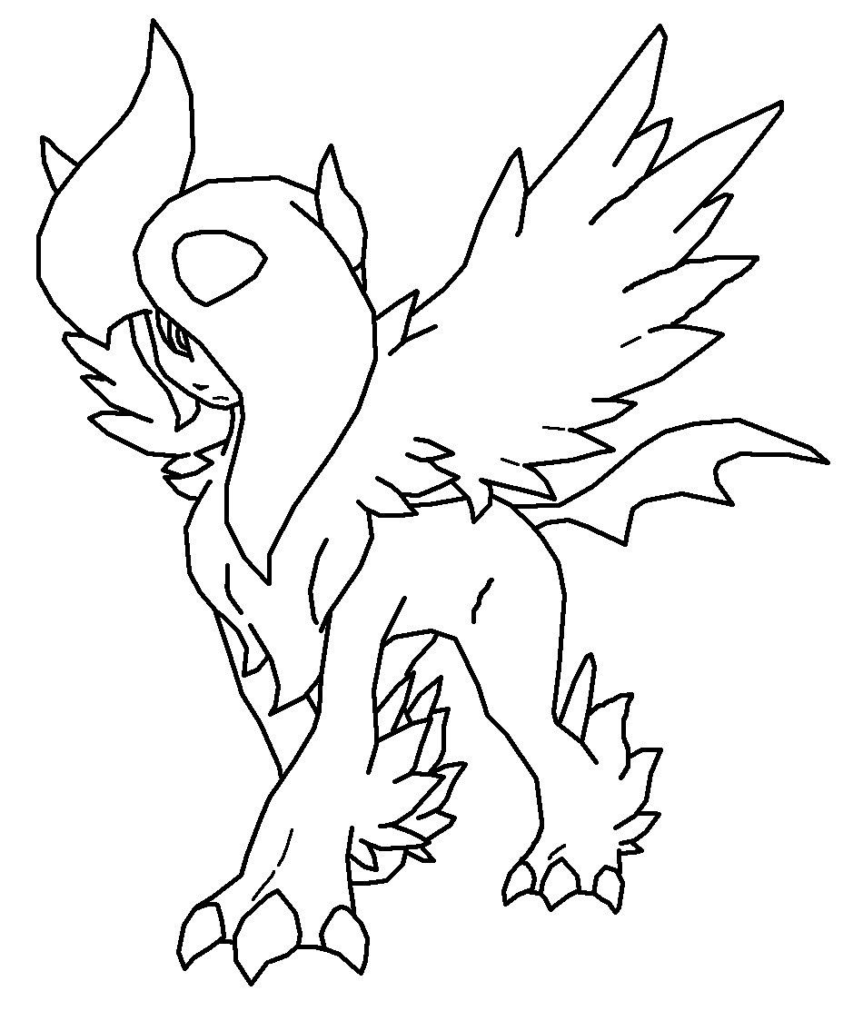 Pokemon coloring pages absol u through the thousand images on the