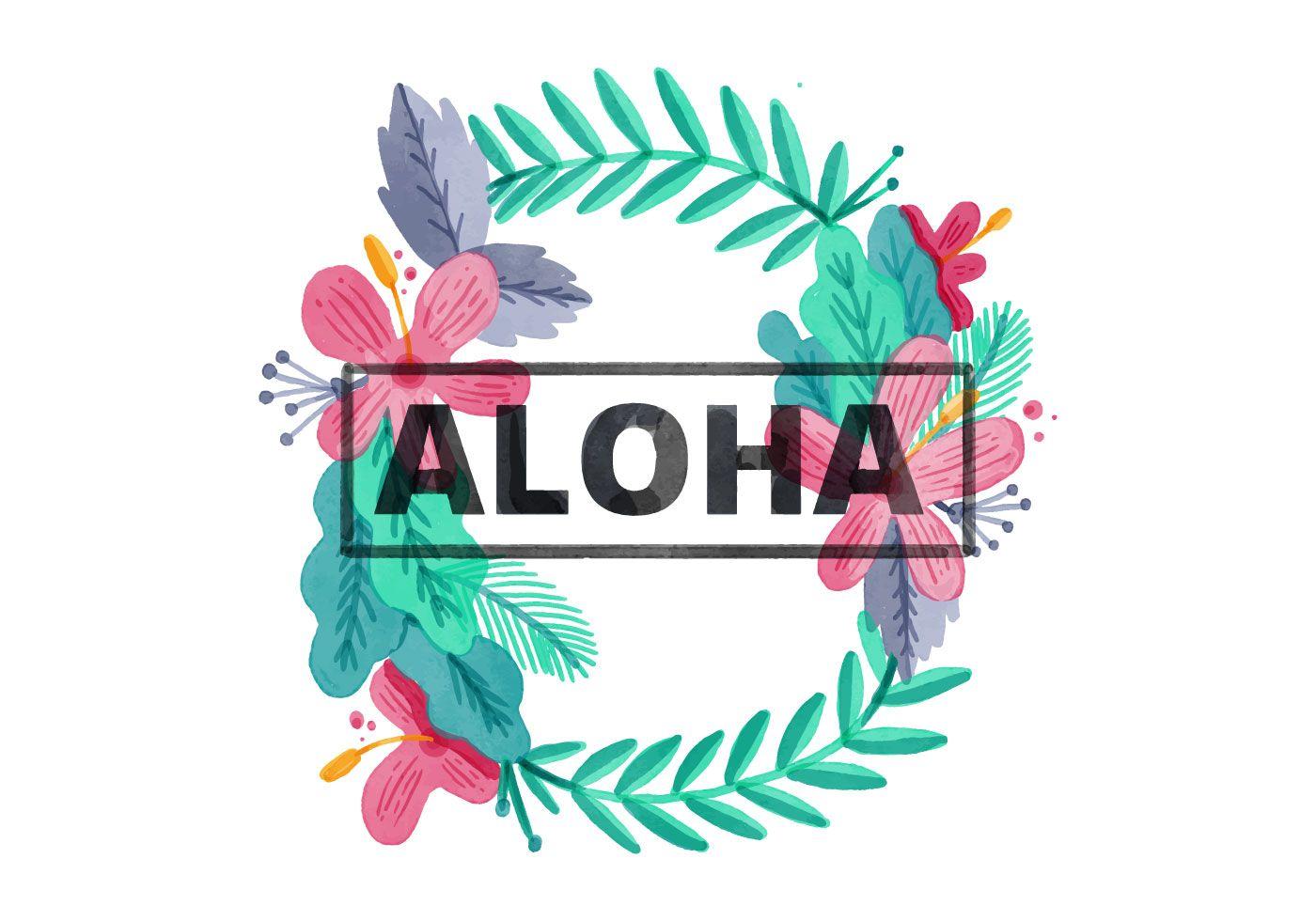 Free hawaiian lei watercolor background hawaiian tattoo