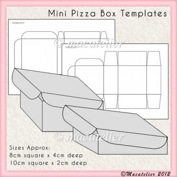 Noni's crafts: pizza box template | cajas de pizza, cajas empaques.