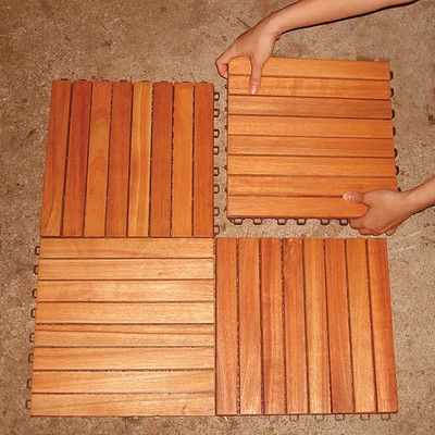 Eucalyptus 12 X 12 Interlocking Deck Tile Outdoor Flooring Interlocking Deck Tiles Deck Tiles