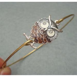 Elegant Owl Bangle Bracelet by turquoisecity on Etsy, I WANT!