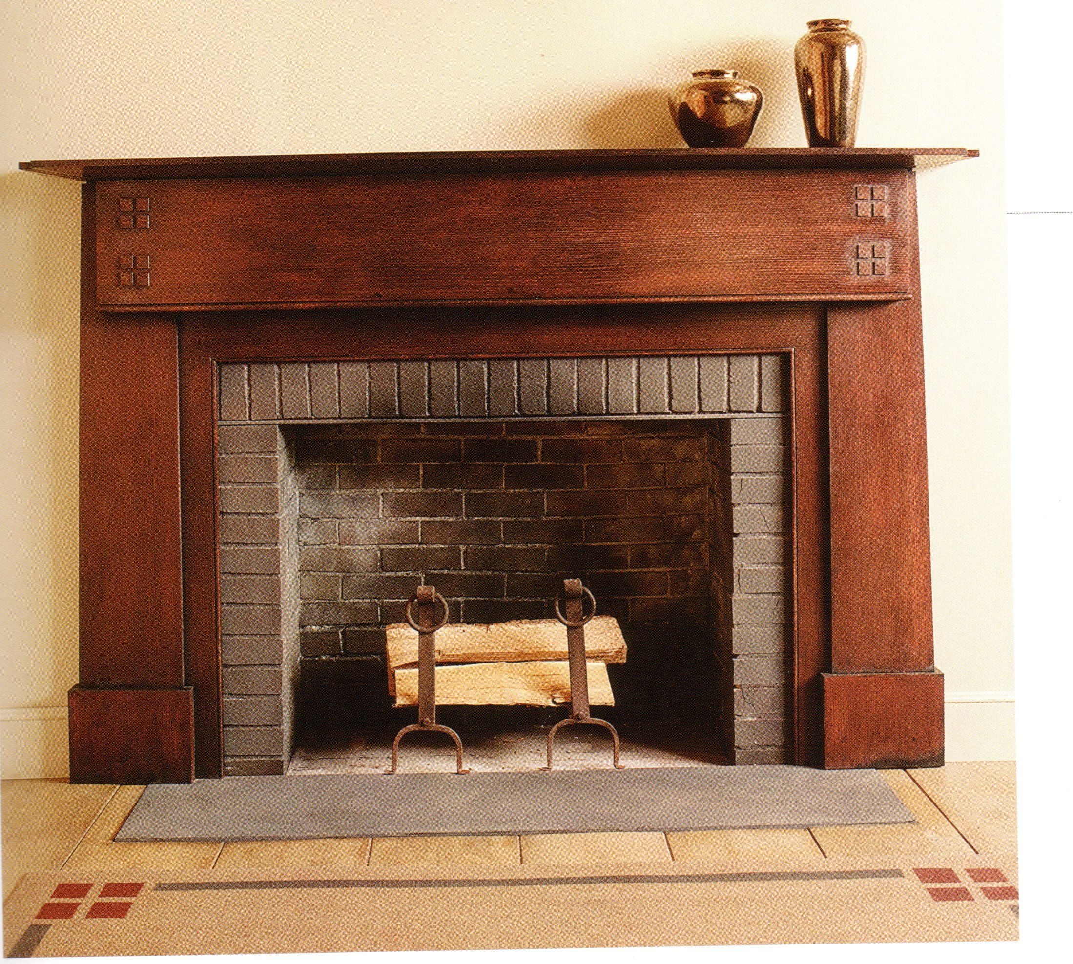 Custom Craftsman Style Mantel... your mantel could look like this, if it's restored. #craftsmanstylehomes