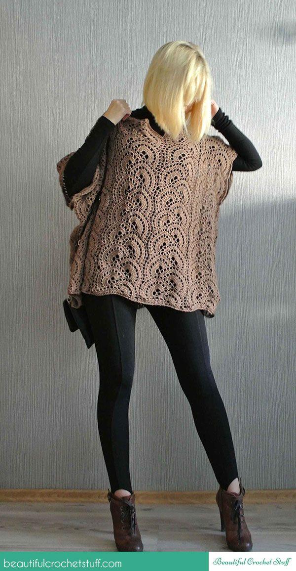 Crochet Poncho - Free Pattern   CrochetHolic - HilariaFina ...