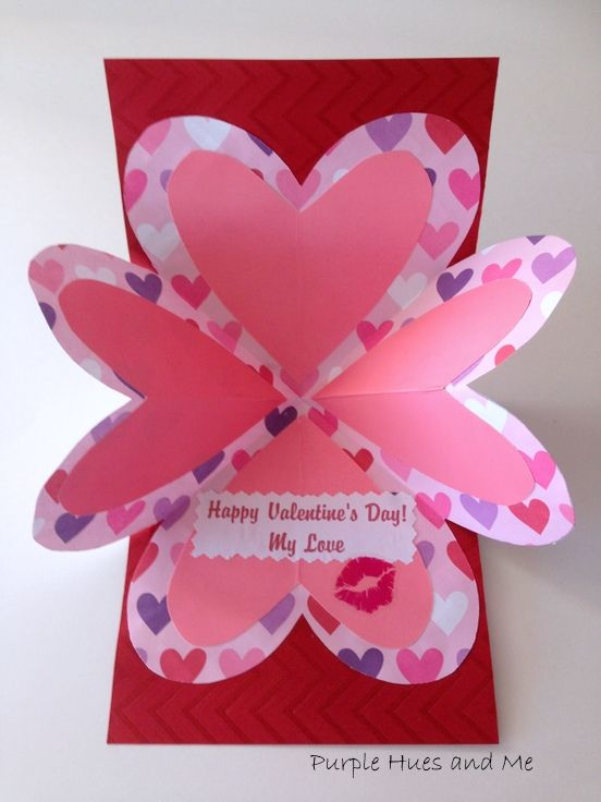 Folding Pop-up Valentine Card 7:38 AM Gail @Purple Hues and Me 4 ...