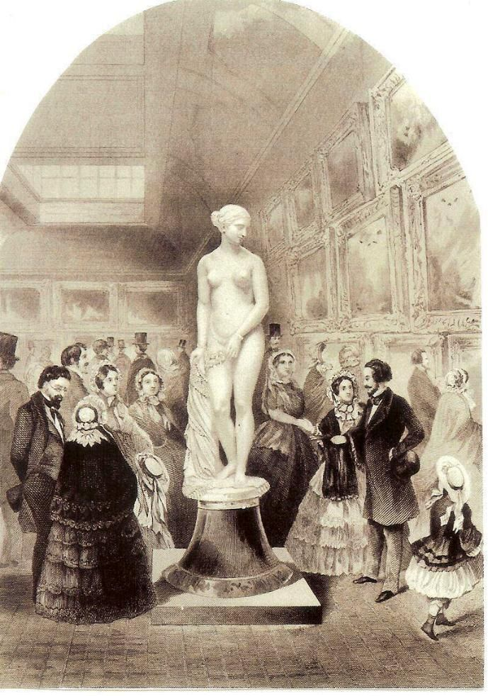 """The """"Greek Slave"""", by Hiram Powers at an early exhibition, from a ..."""