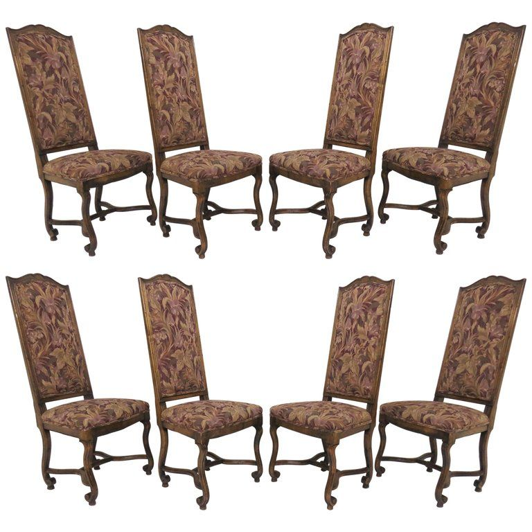 Tremendous Set Of Eight 1Stdibs Dining Room Chairs Style Carved High Ocoug Best Dining Table And Chair Ideas Images Ocougorg