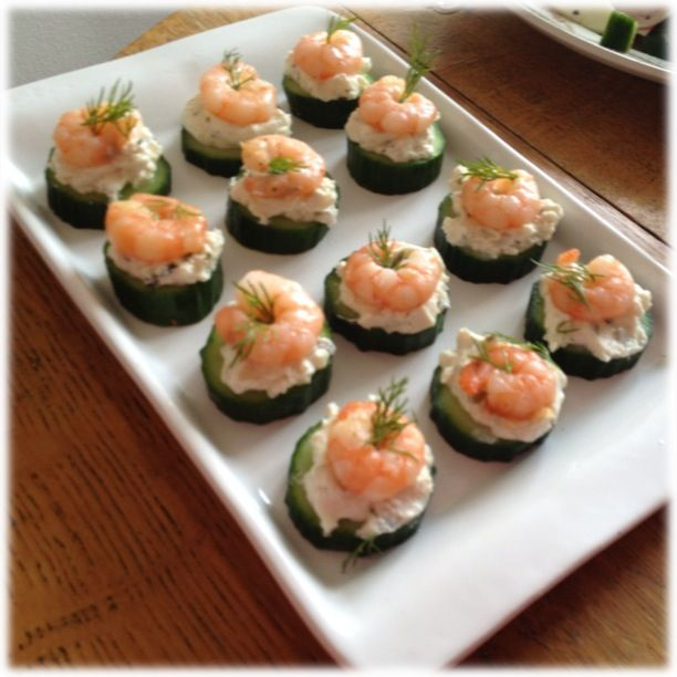Healthy canap ideas glutenfree use cucumber as a base for Canape party ideas