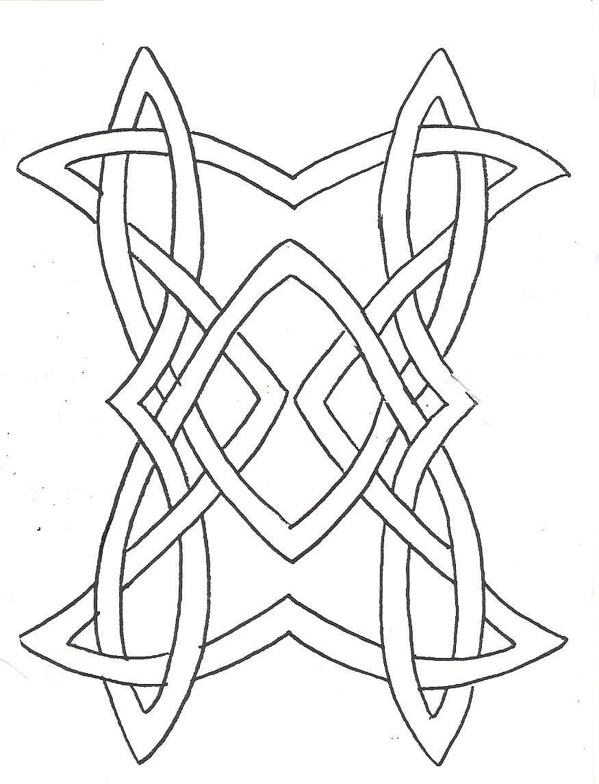 Celtic Rectangle Celtic Knot Drawing Celtic Patterns Cross Coloring Page