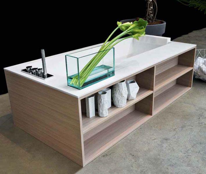 Antonio lupi salle de bain pinterest - Tablier baignoire avec rangement ...