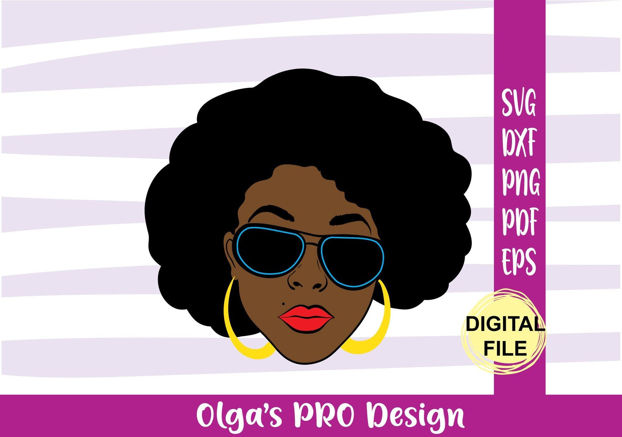 Girl afro svg black Misskyliedesign Free