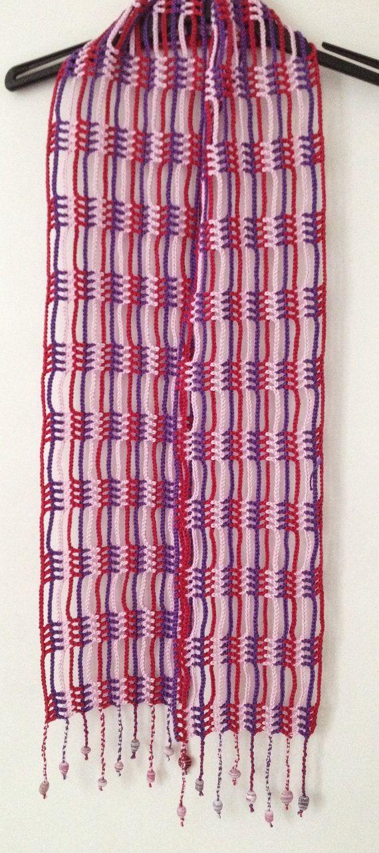 Cachecol De Vero Em Crochet Rosa E Violeta Quero Fazer