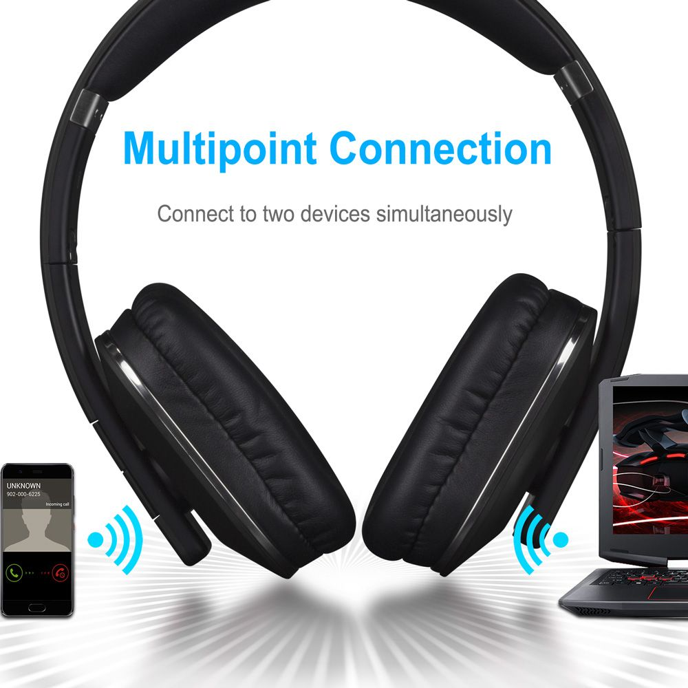 Ep650 Bluetooth Wireless Headphones With Mic Multipoint Nfc Over Ear Bluetooth 4 2 Stereo Music Aptx Headset For Tv Phone In 2020 Wireless Headphones Wireless Headphones With Mic