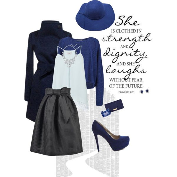 Black & Blue? by lalamoon on Polyvore featuring polyvore, fashion, style, Coast, Charlotte Russe, Kate Spade, Blue Nile, Helmut Lang, Henri Bendel and Spineless Classics