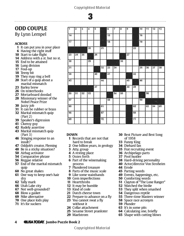 Massif image in printable usa today crossword puzzles