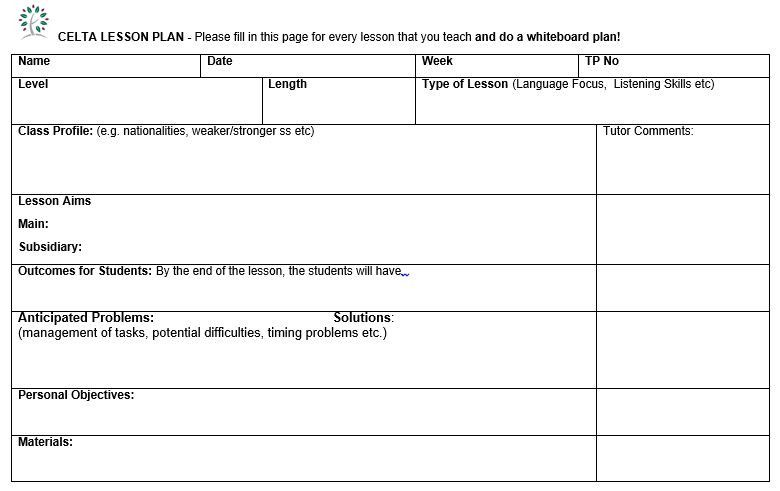 Personalized Learning Lesson Plan Template Inspirational How To Write Celta Lesson Plans Writing Lesson Plan Template Lessons Template Lesson Plan Format