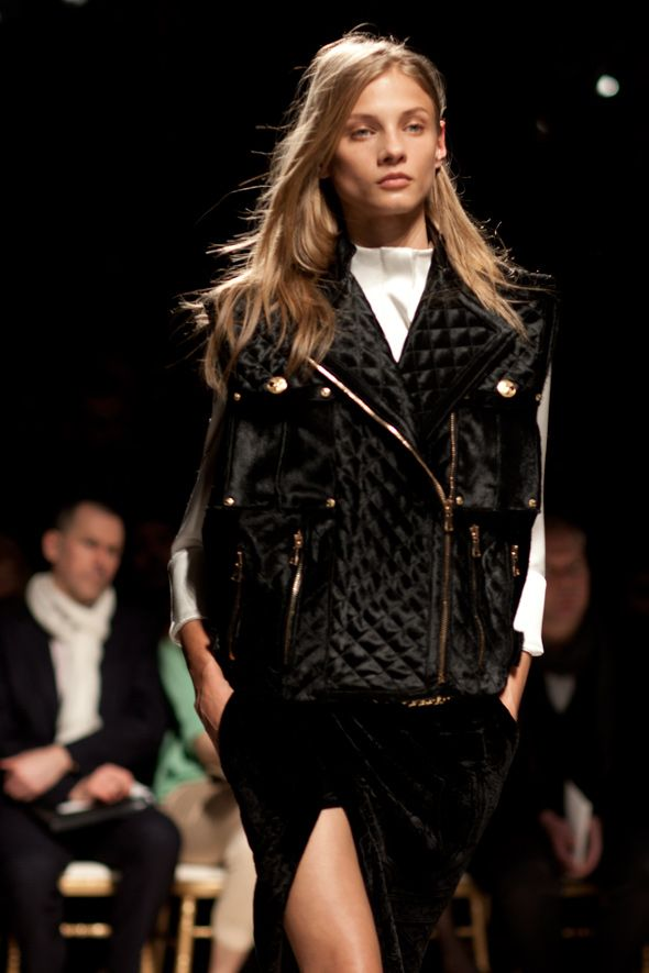 The new trend from Balmain: extended shoulder square cut vests