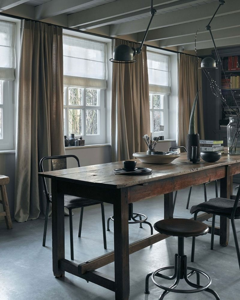 Industrieel Meets Landelijk Interieur Thuisdecoratie Woonkamergordijnen