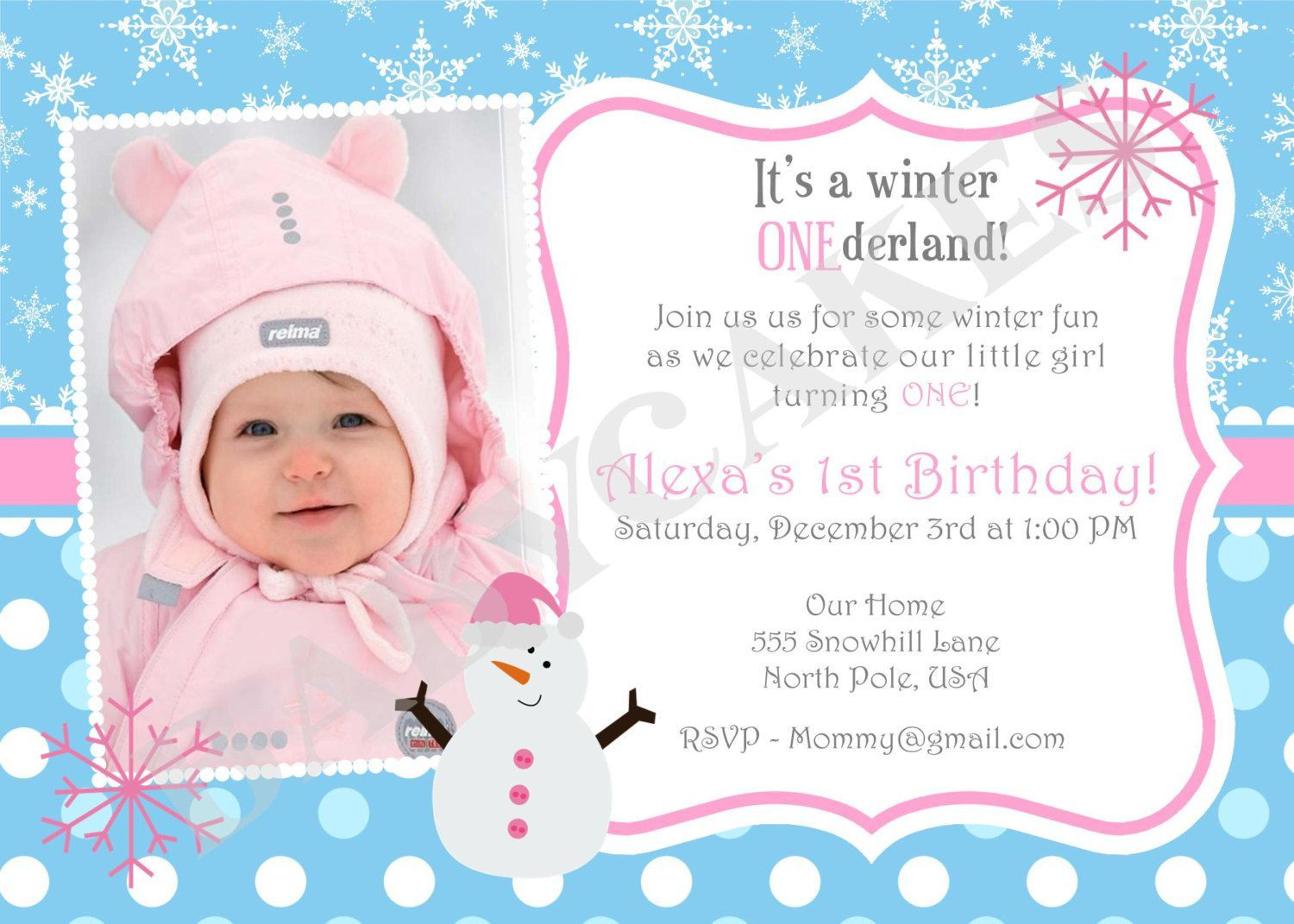 Best Birthday Invitations Template Images On Pinterest - Birthday invitation wording for 1 year old baby girl