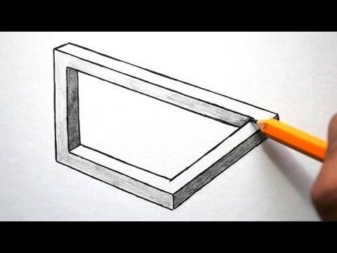 How To Draw A Simple Optical Illusion Shape Optical Illusions