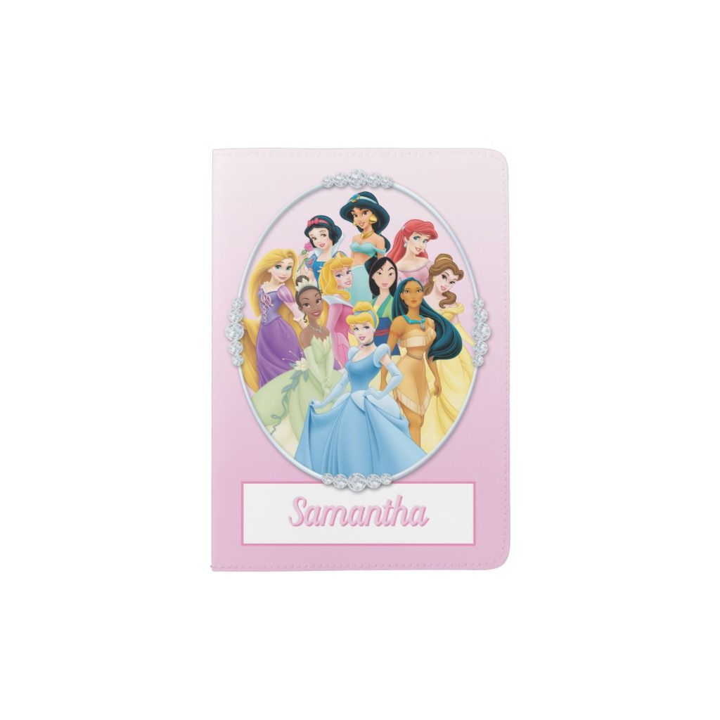 Disney Princesses Name Passport Holder Zazzle Com Disney
