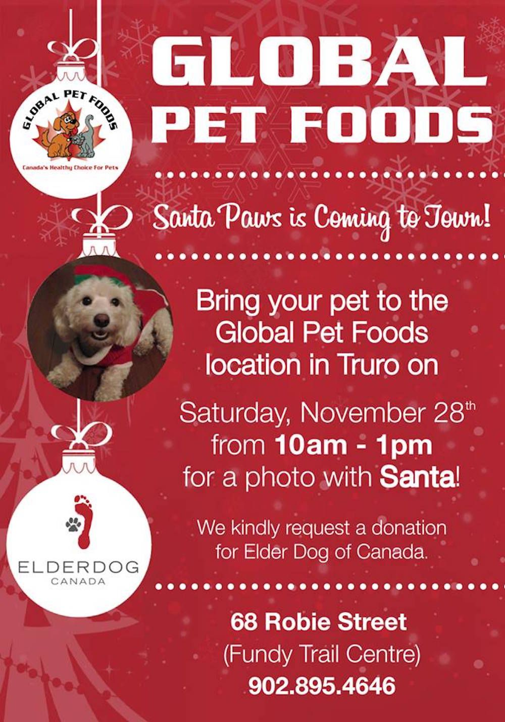 SAVE THE DATE! Santa will be visiting for photos with your