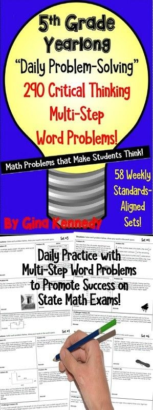 5th Grade Daily Problem Solving 290 Multi Step Math Word
