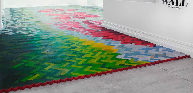 wall to wall raw by edges studio - Colored Wood Flooring