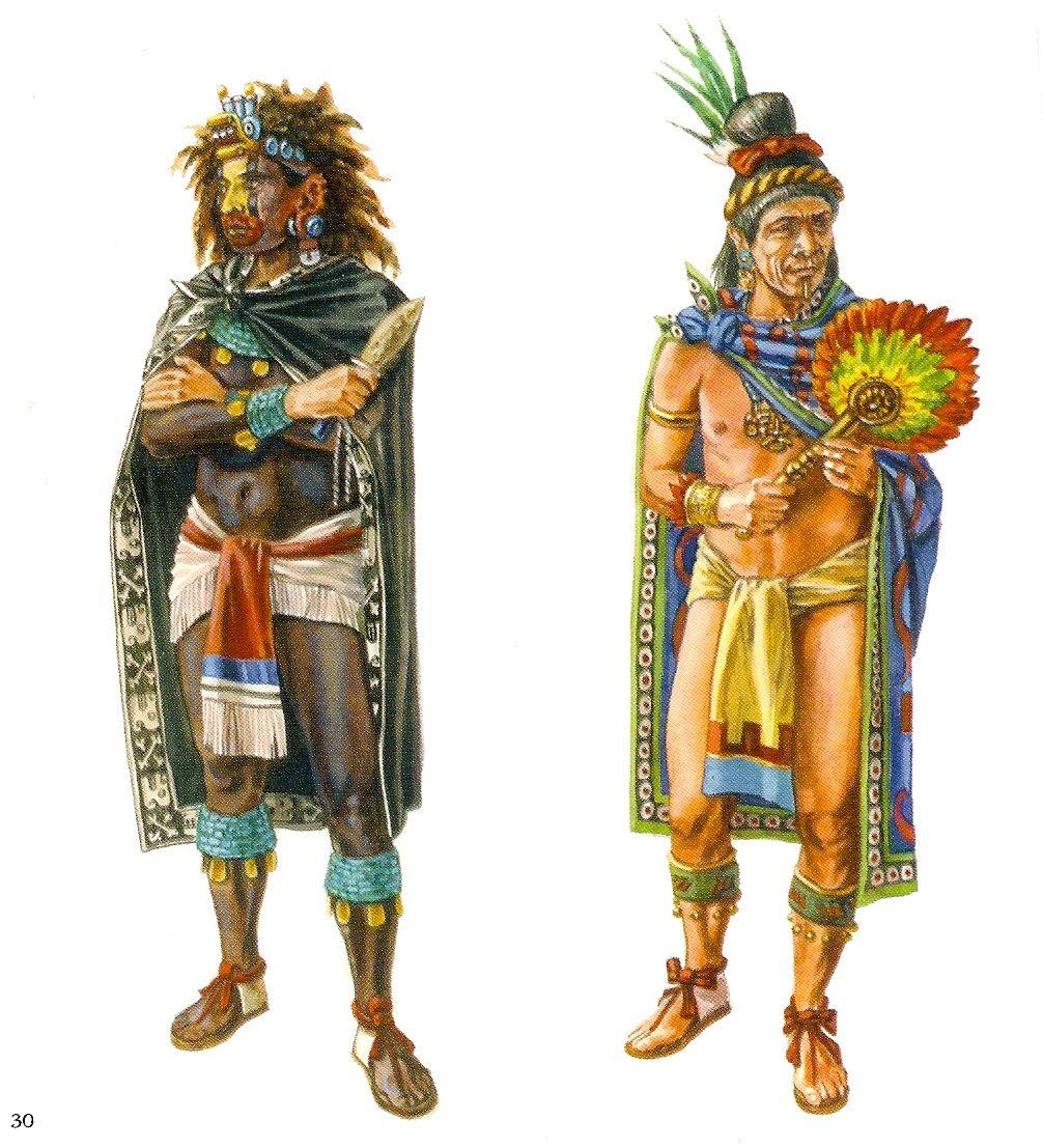 ancient aztec clothing - 736×809