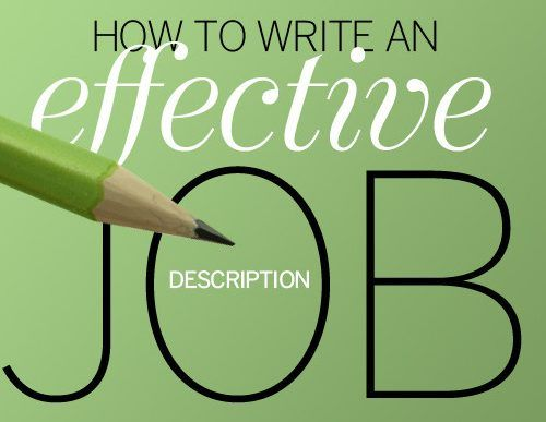 How to Write an Effective Job Description   wwwbbalectures - how to write a job summary